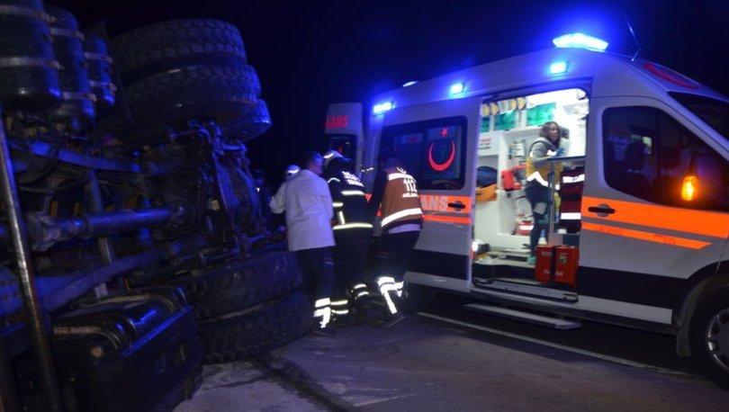 Tekirdağ'da kazaya müdahale eden polise otomobil çarptı