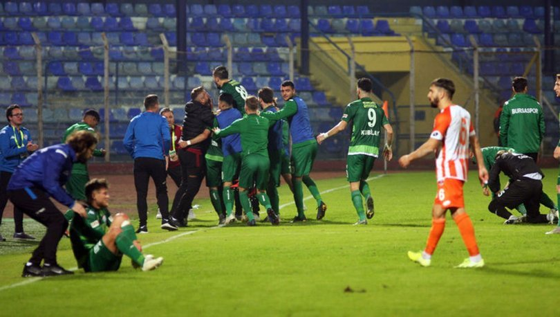 Adanaspor: 2 - Bursaspor: 3   MAÇ SONUCU