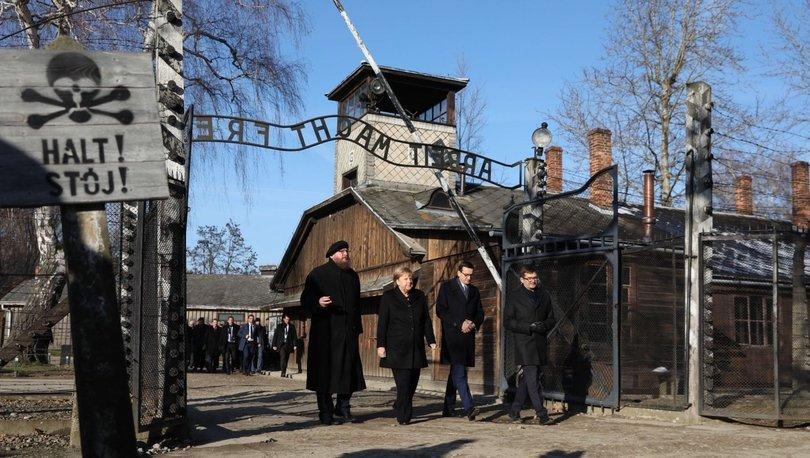 Merkel, Auschwitz'i ziyaret eden üçüncü Şansölye oldu