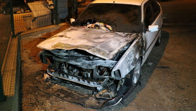 Karabük otomobil yangını