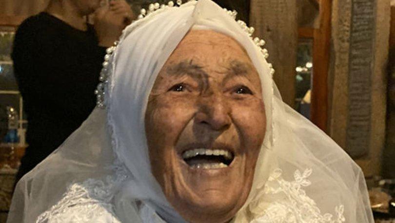 85 yaşında gelinlik giydi