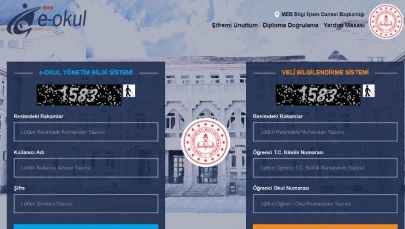 E-okul öğrenci giriş sayfası 2019! E-okul veli bilgilendirme sistemi nasıl açılır? E-okul VBS giriş