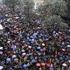 Kolombiya'da 'şemsiye devrimi'ne benzer görüntüler