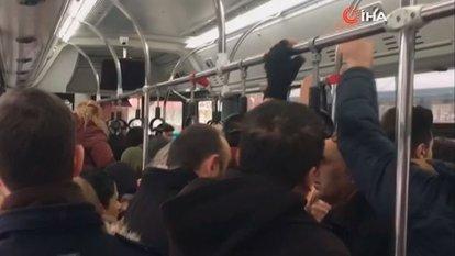 Şoför küserse... Halk otobüsünde yaşandı!