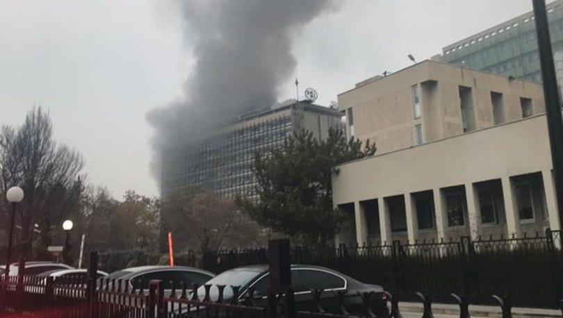 Son dakika! Başkent'te DSİ Genel Müdürlüğü binasında yangın