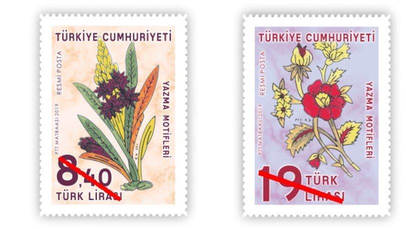 PTT'den 'yazma motifli' posta bulları