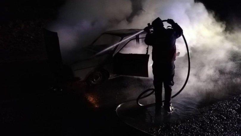 yanan araçta öldü