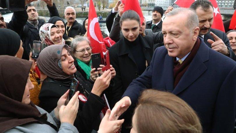 İsviçre'de Erdoğan'a coşkulu karşılama