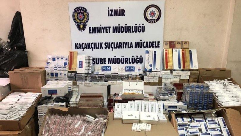 İzmir'de kaçak sigara ve kaçak sahte içki operasyonu