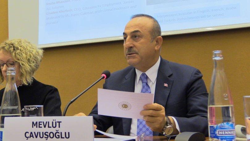 Dışişleri Bakanı Mevlüt Çavuşoğlu'ndan Cenevre'de önemli açıklamalar