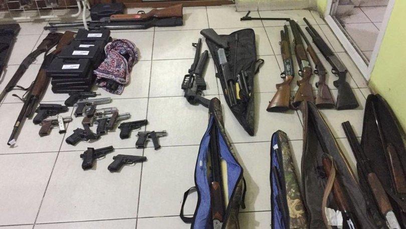 SON DAKİKA BÜYÜK OPERASYON! 28 tabanca, 15 av tüfeği, 1087 mermi! Silah operasyonu: 9 gözaltı!