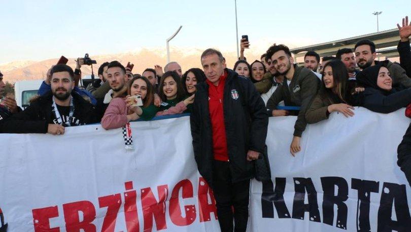 Beşiktaş'a Erzincan'da coşkulu karşılama