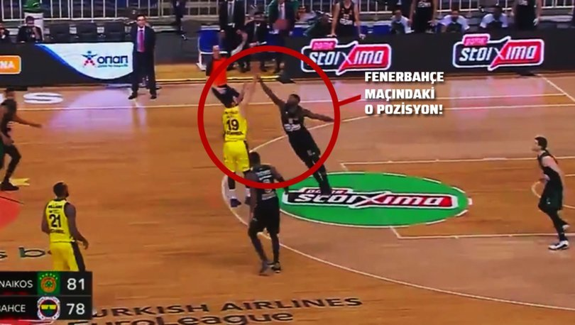 Panathinaikos - Fenerbahçe Beko maçında hakem hatası!