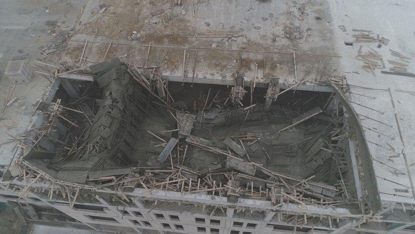 Ankara'da ilkokul inşaatında iskele çöktü: 1 ölü