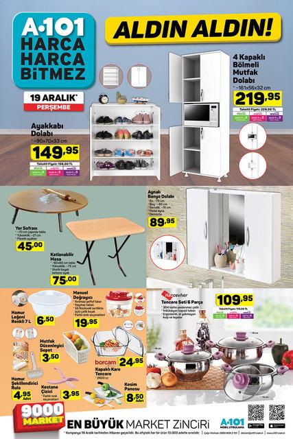 A101 19 Aralık 2019 aktüel ürünleri satışa çıktı! A101 bugün hangi ürünler indirimli olacak? İşte tam liste