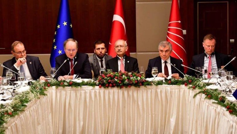 CHP lideri Kemal Kılıçdaroğlu AB Büyükelçileri ile bir araya geldi