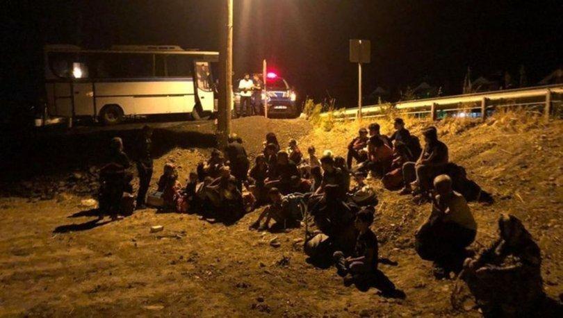 Ayvalık'ta 76 düzensiz göçmen ve 2 organizatör yakalandı