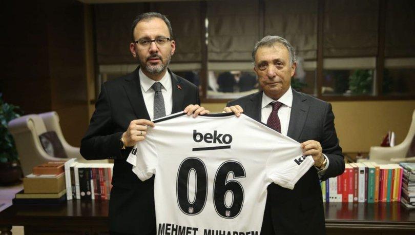 Bakan Kasapoğlu, Beşiktaş Kulübü Başkanı Çebi'yi kabul etti