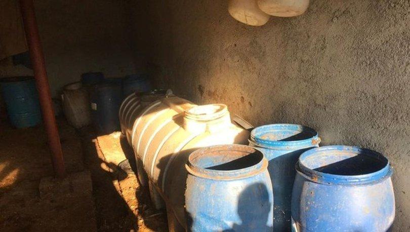Malatya'da 2 bin litre 'sahte içki' ele geçirildi
