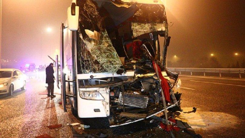 Ankara'da otobüs kazaları: 1'i ağır 11 yaralı