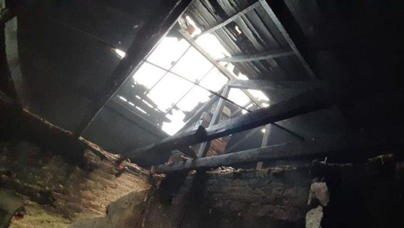 Tekirdağ'da yangında mahsur kalan yaşlı kadını jandarma kurtardı