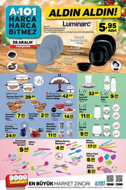 A101 26 Aralık Aktüel ürünler kataloğu! A101'de bu hafta indirimli neler var?
