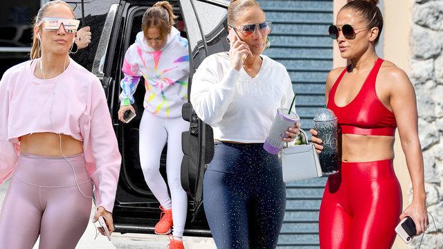 Jennifer Lopez bu kez kırmızıya büründü - Magazin haberleri