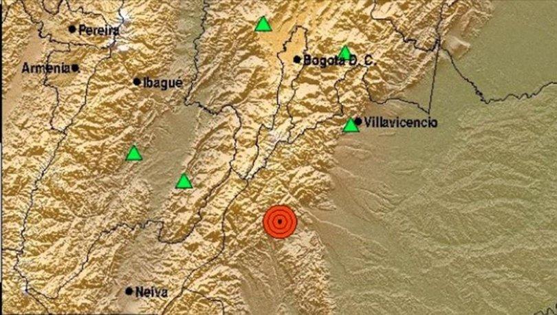 Kolombiya'da 6,2 büyüklüğünde deprem