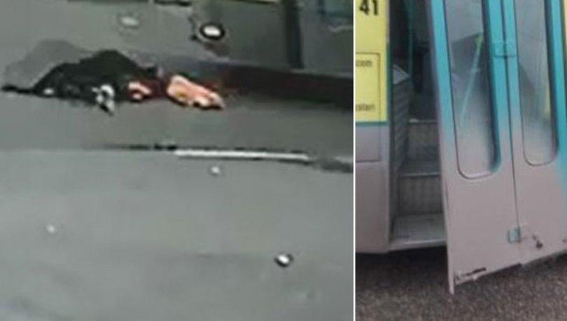 SON DAKİKA AKILALMAZ DEHŞET! Halk otobüsünün kapısı çürüdü! Kadın yola uçtu!