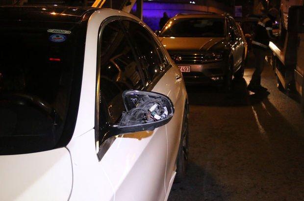 Polisi görünce çocuğu araçta bırakıp kaçtı