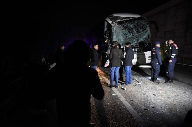 Bilecik-Eskişehir yolunda otobüs kazası!