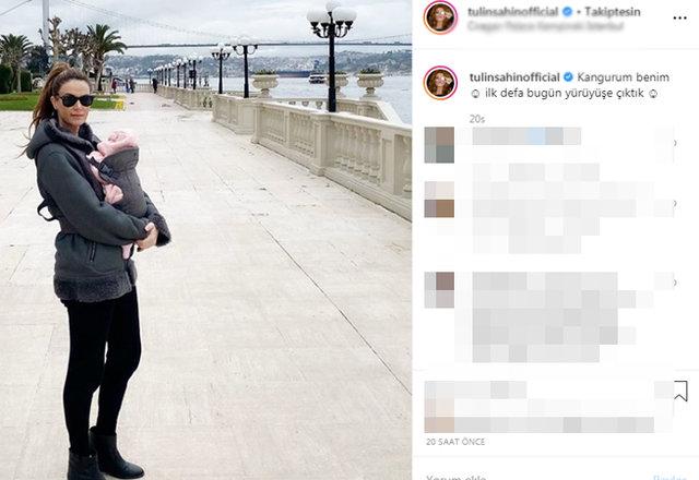 Tülin Şahin, bebeği Siena Leyla ile yürüyüş pozunu paylaştı - Magazin haberleri