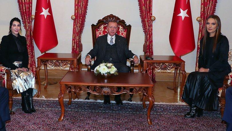 Cumhurbaşkanı Erdoğan, sanatçı Hande Yener ve Demet Akalın'ı kabul etti - Magazin haberleri