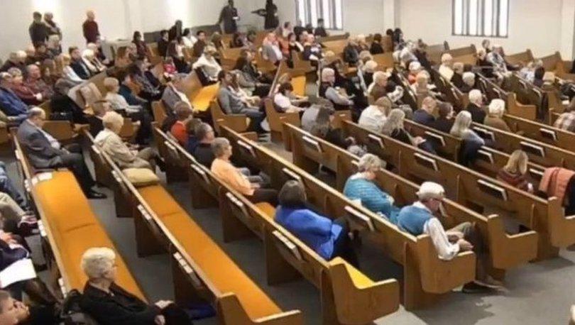 Teksas'ta kameraların kaydettiği kilise saldırısında iki kişi öldü
