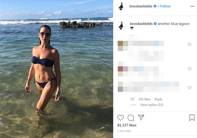 Brooke Shields'dan bikinili poz - Magazin haberleri