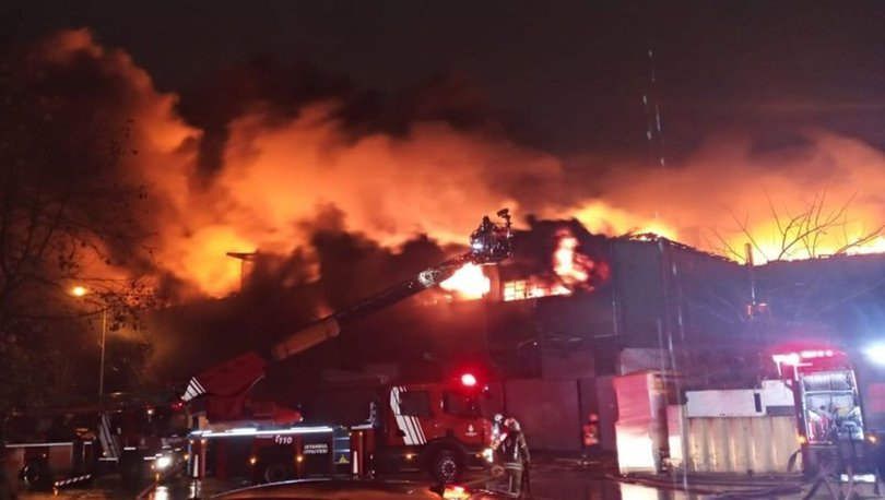 Zeytinburnu fabrika yangını