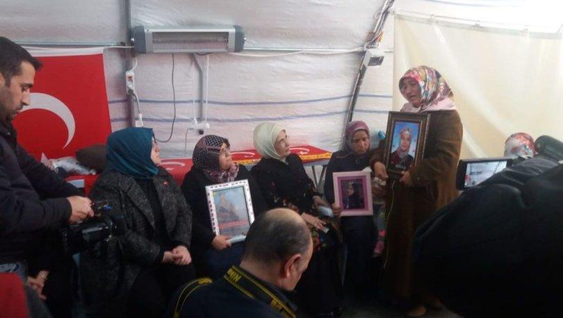 Emine Erdoğan'dan HDP önündeki ailelere ziyaret