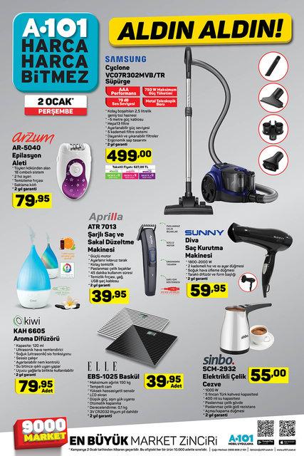 A101 2 Ocak 2020 aktüel ürünleri satışa çıktı! A101 bugün hangi ürünler indirimli olacak? İşte tam liste
