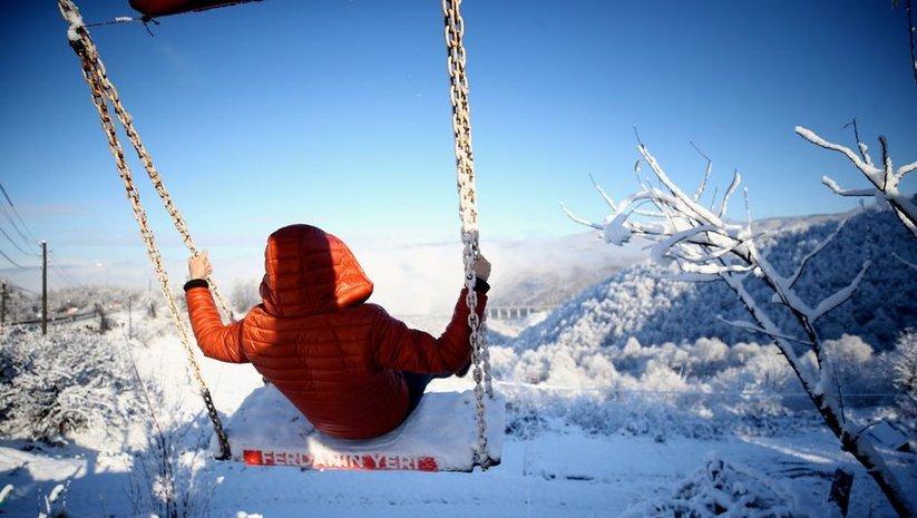 Bolu Dağı'nın kar manzarası