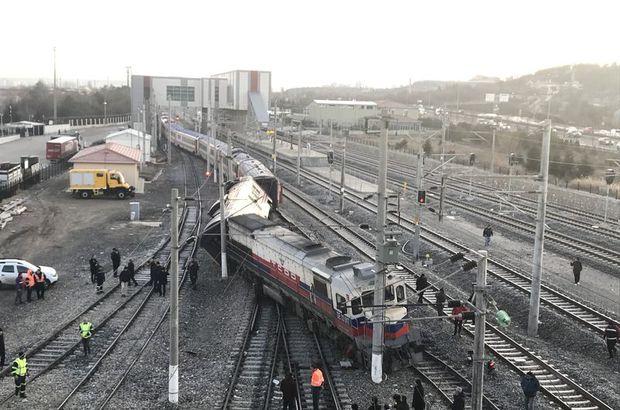 Ankara'da tren raydan çıktı!
