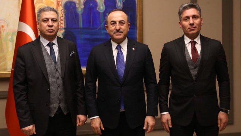 Dışişleri Bakanı Mevlüt Çavuşoğlu Türkmen lider Salihi ile görüştü