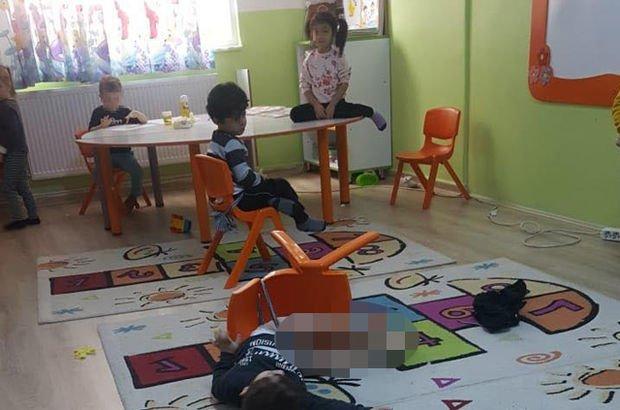 Çocukları anaokulunda sandalyeye iple bağlamışlar