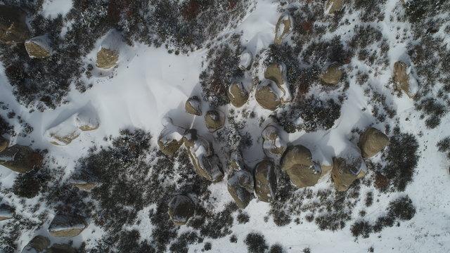 Frigya'da kış manzarası