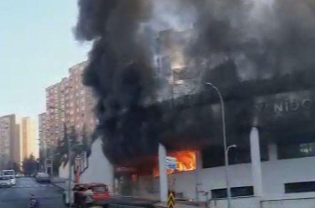Başakşehir'de yangın! Okul tahliye edildi
