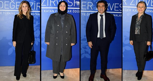 Türkiye'nin değerleri ödül töreninde...