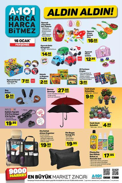 A101 16 Ocak 2020 aktüel ürünleri satışa çıkıyor! A101 yarın hangi ürünler indirimli olacak? İşte tam liste