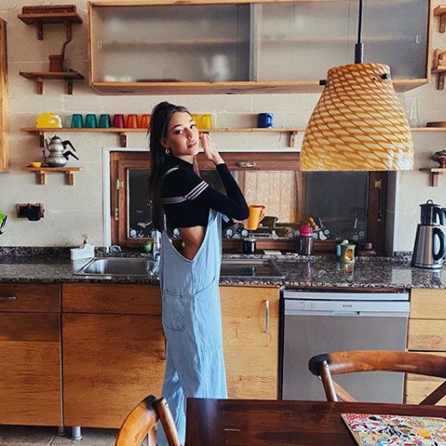 Dilan Çiçek Deniz'in mutfak pozu: Seneye de giyerim - Magazin haberleri
