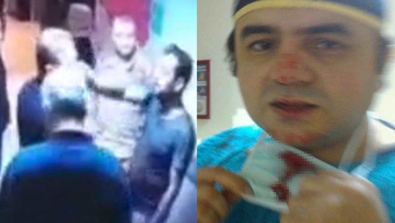 Hastanede doktorun burnunun kırıldığı saldırının görüntüsü çıktı