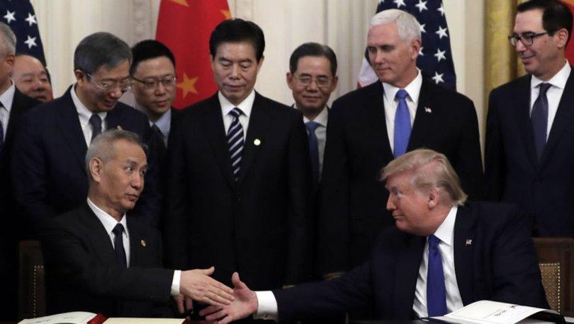 ABD-Çin birinci faz ticaret anlaşmasını ABD Başkanı Donald Trump ile Çin Devlet Başkan Yardımcısı Liu He imzaladı