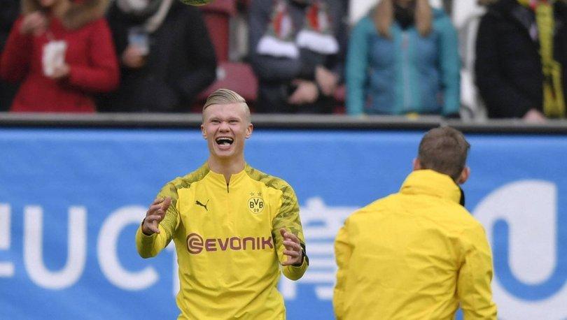 Erling Haaland, Augsburg'u yıktı! 'Muhteşem çocuk' Erling Haaland 23 dakikada hat-trick yaptı!